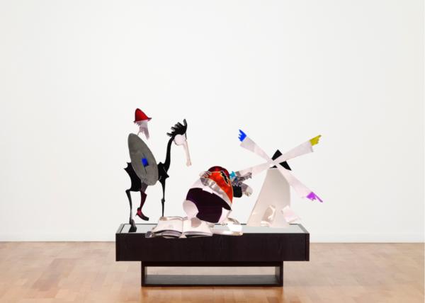 galleria-arte-michelangelo-del-brocco-mikala-opere-contemporanee-scultura-artista-plexiglass-moderno-italiano-opera-valore-collezione-collezionisti-don-chisciotte-sancho-mulino