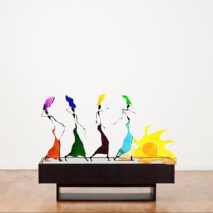 galleria-arte-michelangelo-del-brocco-mikala-opere-contemporanee-scultura-artista-plexiglass-moderno-italiano- opera-valore-collezione-collezionisti-ritorno-dalla-fonte-castagno