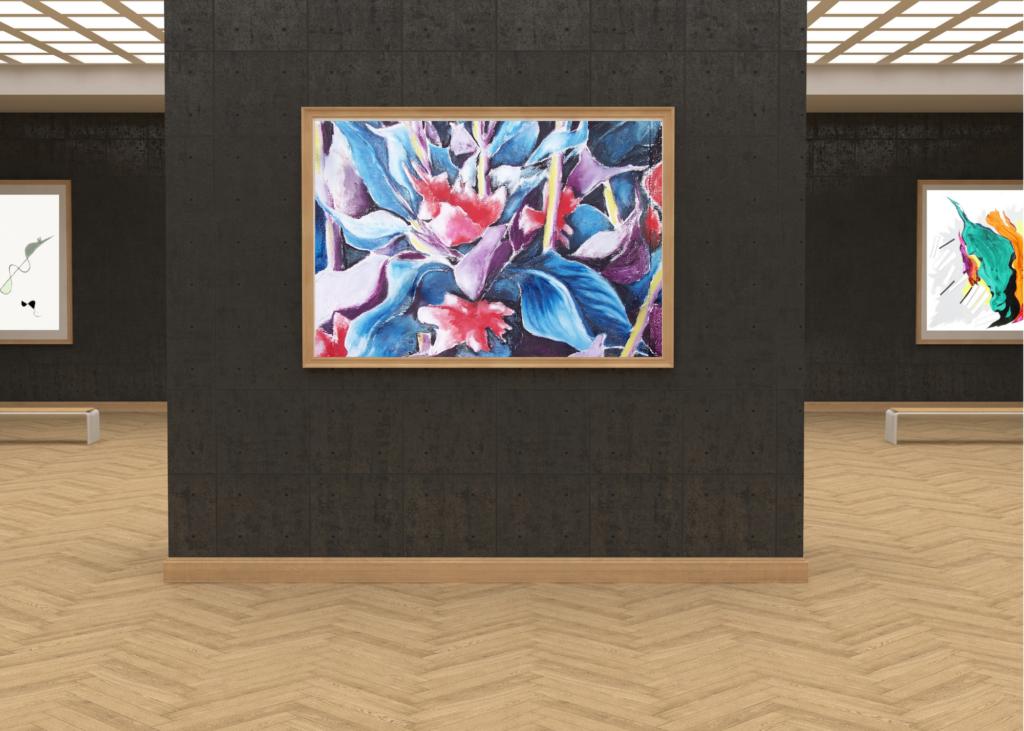 galleria-arte-michelangelo-del-brocco-opere-contemporanee-scultura-pittura-artista-quadro-horses-in-love-cavalli-amore-africa-illy-moderno-amazzone-plexiglass-tela-olio