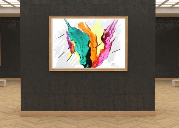 galleria-arte-michelangelo-del-brocco-opere-contemporanee-scultura-pittura-artista-quadro-horses-in-love-cavalli-amore-africa-illy-moderno-amazzone-plexiglass-tela-olio-piano-sinestesia