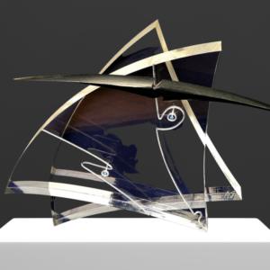 galleria-arte-michelangelo-del-brocco-mikala-opere-contemporanee-scultura-artista-plexiglass-moderno-italiano- opera-valore-collezione-collezionisti-black-horn-corno-nero