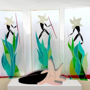 galleria-arte-michelangelo-del-brocco-mikala-opere-contemporanee-scultura-artista-plexiglass-moderno-italiano- opera-valore-collezione-collezionisti-caccia-beffarda