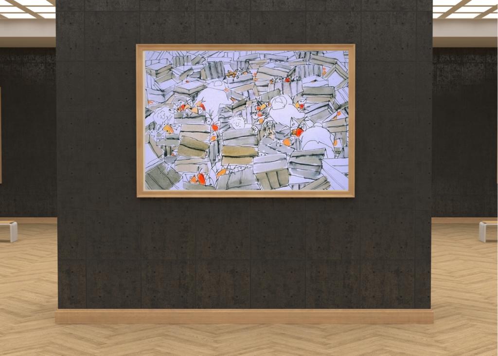 galleria-arte-michelangelo-del-brocco-mikala-opere-contemporanee-pittura-artista-quadro-moderno-tela- oilbar-acrilico-artista-italiano-opera-valore-collezione-collezionisti-mercato-pesce