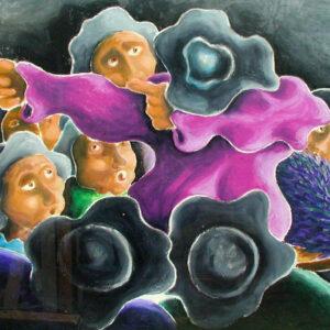 galleria-arte-michelangelo-del-brocco-mikala-opere-contemporanee-scultura-pittura-artista-quadro-moderno-tela- olio-acrilico-artista-italiano-quadro-opera-valore-collezione-collezionisti-ritorno-al-bar-cacciatore
