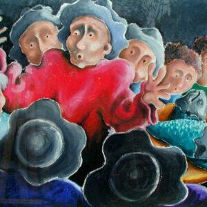 galleria-arte-michelangelo-del-brocco-mikala-opere-contemporanee-scultura-pittura-artista-quadro-moderno-tela- oilbar-acrilico-artista-italiano-quadro-opera-valore-collezione-collezionisti-ritorno-bar-pescatore