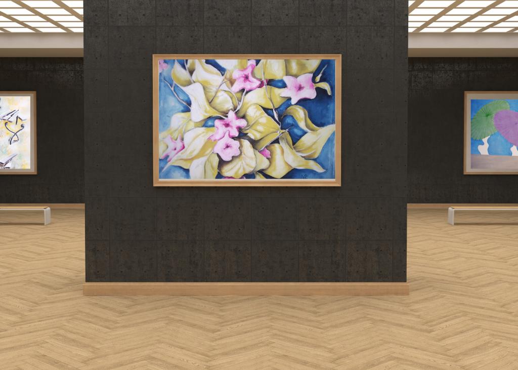 galleria-arte-michelangelo-del-brocco-mikala-opere-contemporanee-scultura-pittura-artista-quadro-moderno-tela-olio-acrilico-artista-italiano-quadro-opera-valore-collezione-collezionisti-ravello-fiori-foglie-gialle