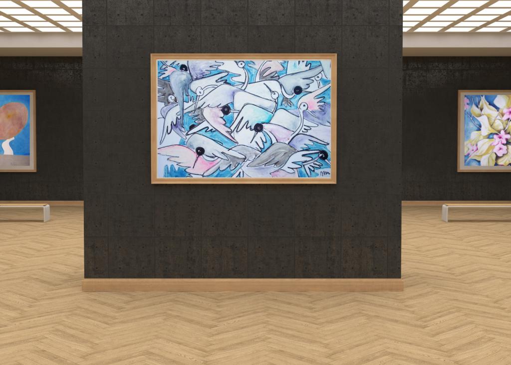 galleria-arte-michelangelo-del-brocco-mikala-opere-contemporanee-scultura-pittura-artista-quadro-moderno-tela-olio-acrilico-artista-italiano-quadro-opera-valore-collezione-collezionisti-aironi