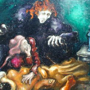 galleria-arte-michelangelo-del-brocco-mikala-opere-contemporanee-scultura-pittura-artista-quadro-moderno-tela-olio-acrilico-artista-italiano-quadro-opera-valore-collezione-collezionisti-arriva-la-morte